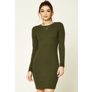 Forever 21 olive green bodycon dress